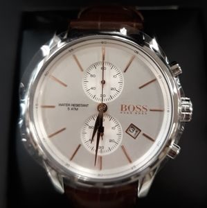 Hugo Boss Leather StrapWatch New.